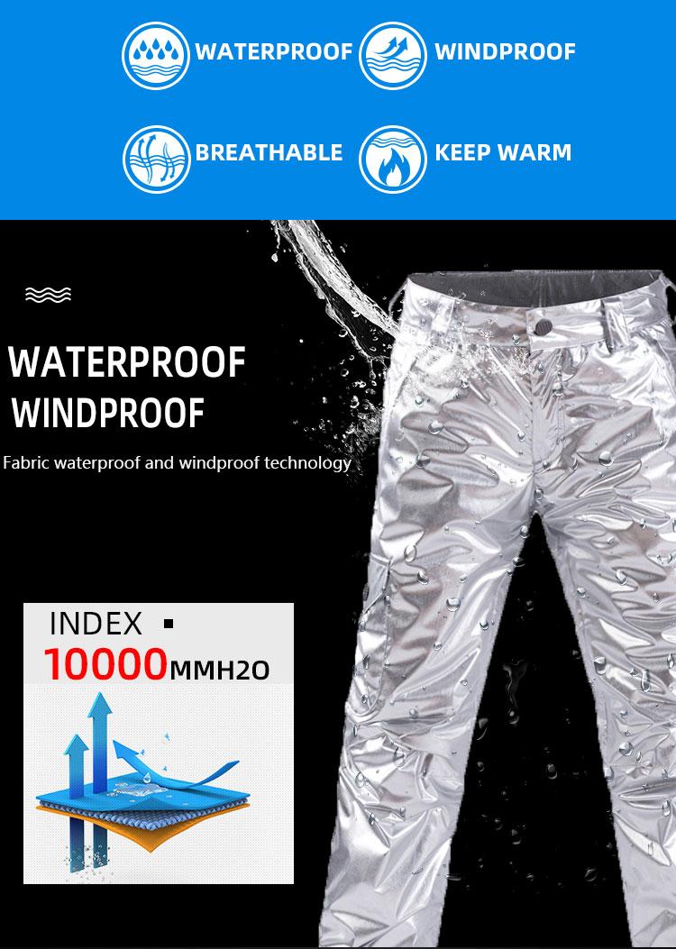 à prova de vento respirável jaqueta + conjuntos calça neve