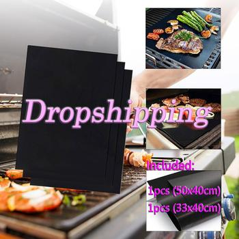 Multiple Size Single Product Reusable Non-Stick BBQ Grill Mat Pad Baking Sheet Portable Outdoor Picnic Cooking Hot sell image
