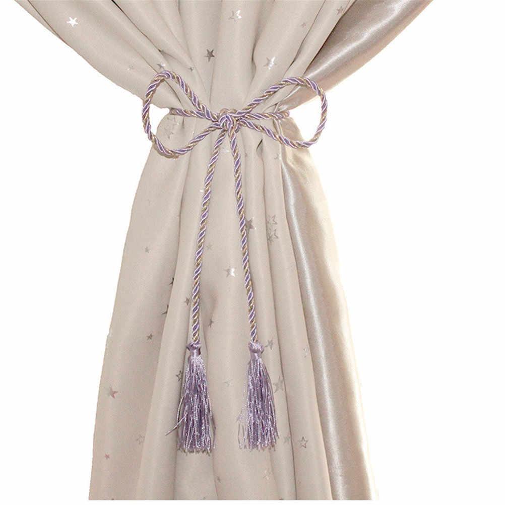 1Pc 꽃 목화 창 커튼 로프 홈 장식 클립 거실 커튼 술 Tieback 홈 커튼 홀더 10 색