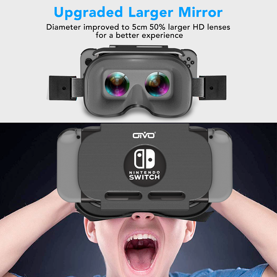 OIVO Switch VR Headset for Nintend Switch LABO VR Big lens Virtual Reality Movies Switch Game 3D VR Glasses for Odyssey Games 1