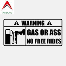 Aliauto criativo aviso etiqueta do carro gás ou acessórios do traseiro decalque do vinil para motocicletas passat b5 porsche mazda 6 kia, 15cm * 7cm