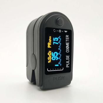 Pulsoksymetr Finger Oximeter Digital Fingertip Pulse Oximeter Blood Oxygen Saturation Meter SPO2 PR Heart Rate Monitor oximetro image