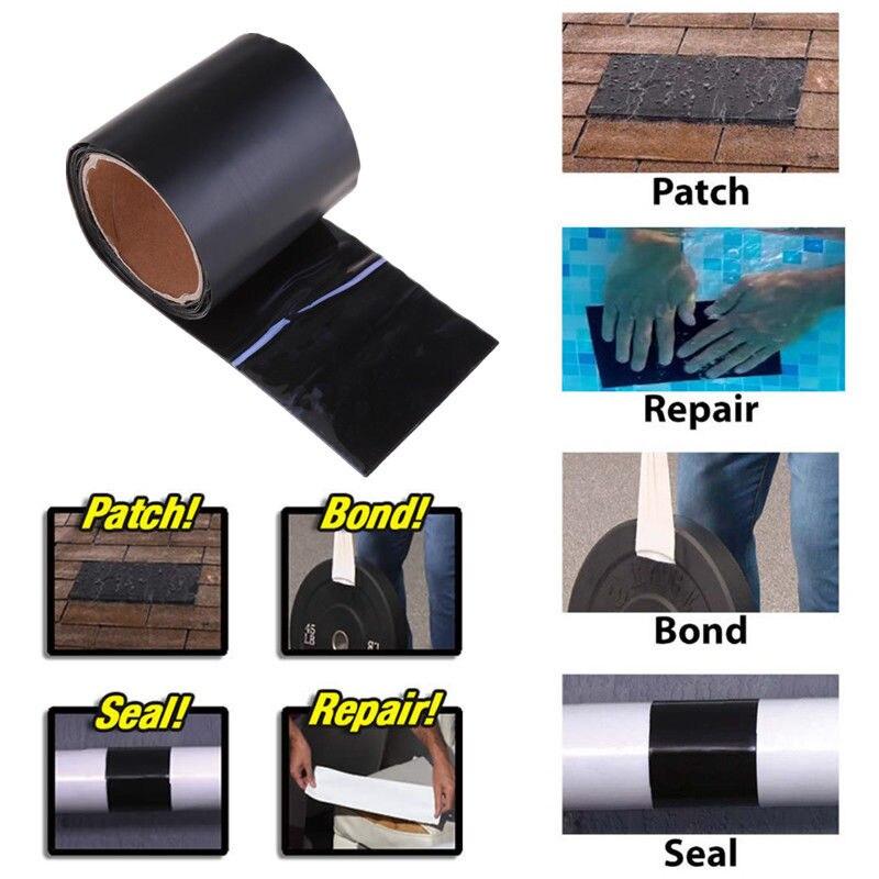 H3d59e9b0912f4eea981ad5ca82a956feR - 1pc Tape Stop Leaks Super Strong Fiber Waterproof Seal Repair Tape Performance Self Fix Tape Adhesive Duct Tape