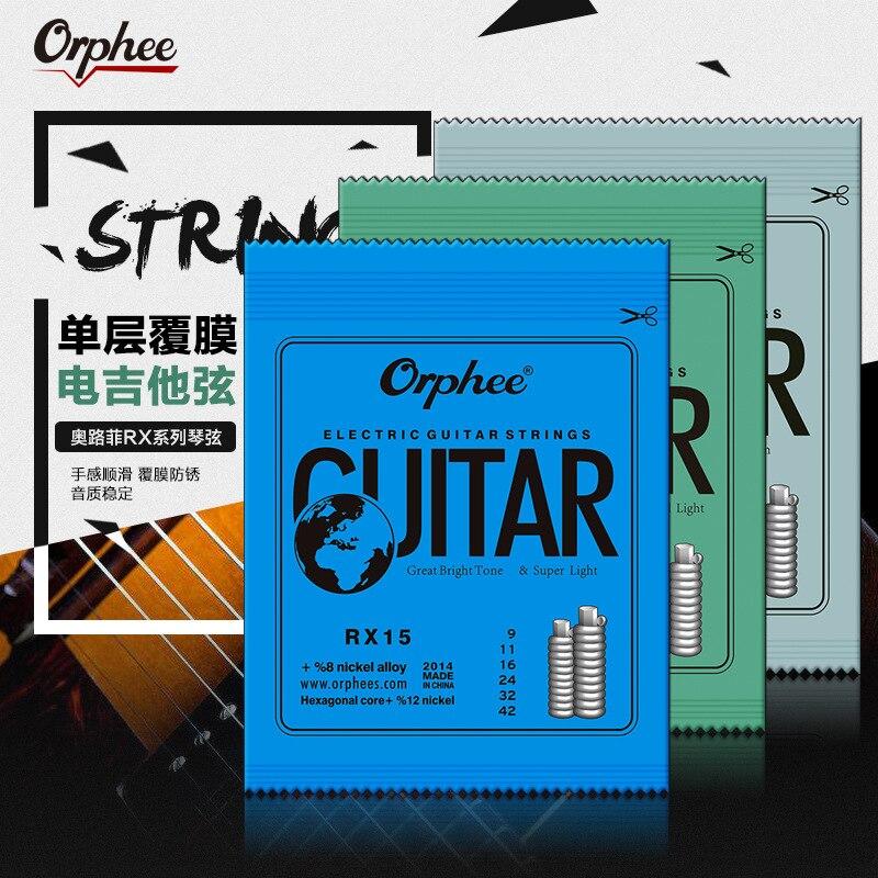 Orphee 1 Набор практичных никелированных стальных струн для электрогитары в оригинальной розничной упаковке RX15 RX17 RX19