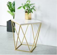 Nordic small family sitting room marble small tea table creative mini square edge a few light luxury web celebrity chair dressin все цены