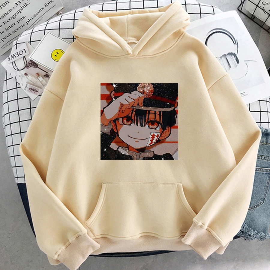 Jibaku Shounen Hanako kun Harajuku Womens Hoodie Fashion Fleece Hoodies Casual Clothes Street Loose Female Sweatshirt 13
