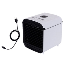 Usb Mini Portable Air Cooler Fan Humidifier Purifier 7 Colors Light Desktop Air Cooling Fan Air Conditioner for Office Home