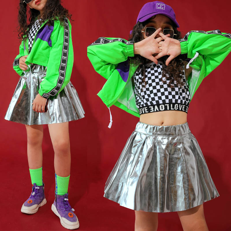 Jazz Dance Costumes For Girls Fashion Hip Hop Stage Rave Outfit Street Dance Practice Dancing Wear Performance Clothes DC2878