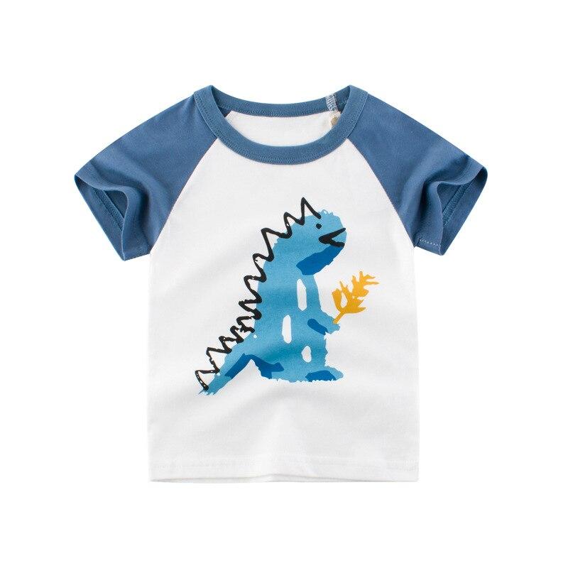 Loozykit/Летняя детская футболка для мальчиков футболки с короткими рукавами и принтом короны для маленьких девочек хлопковая детская футболка футболки с круглым вырезом, одежда для мальчиков - Цвет: S222-10