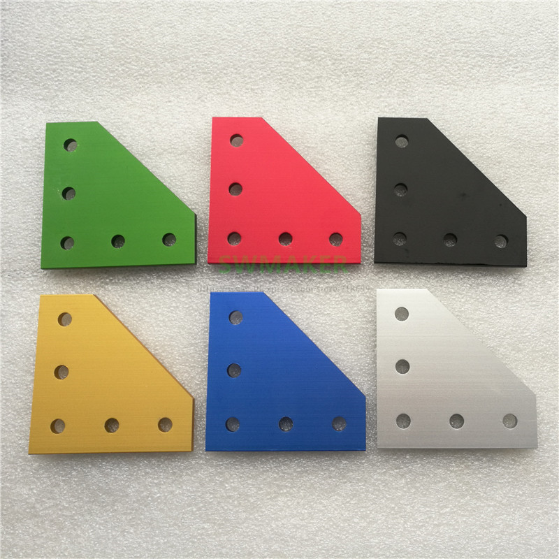 14pcs Colorful T Corner 90 Degrees Angle Bracket Joining Plate For BLV Mgn Cube/CR10/Anet E12 3D Printer Frame Hardware Parts