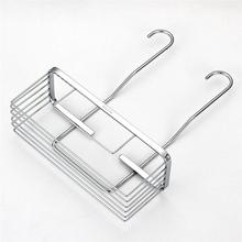 Stainless Steel Storage Rack Shelf Shower Rack Hanging Shelves Toiletries Display Holder For Toilet Bathroom Kitchen (Silver)