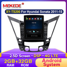 Android DSP GPS navigasyon araba radyo Hyundai Sonata Fe 6 YF 2009 - 2014 2015 hiçbir DVD multimedya Video ses çalar 4G 2G + 32G