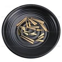 50-500 Pcs Messing Lange Tropfen Charms Finden Schütt Großhandel 15mm 20mm 30mm 38mm Dünne blank Lot Stanzen für Schmuck Machen