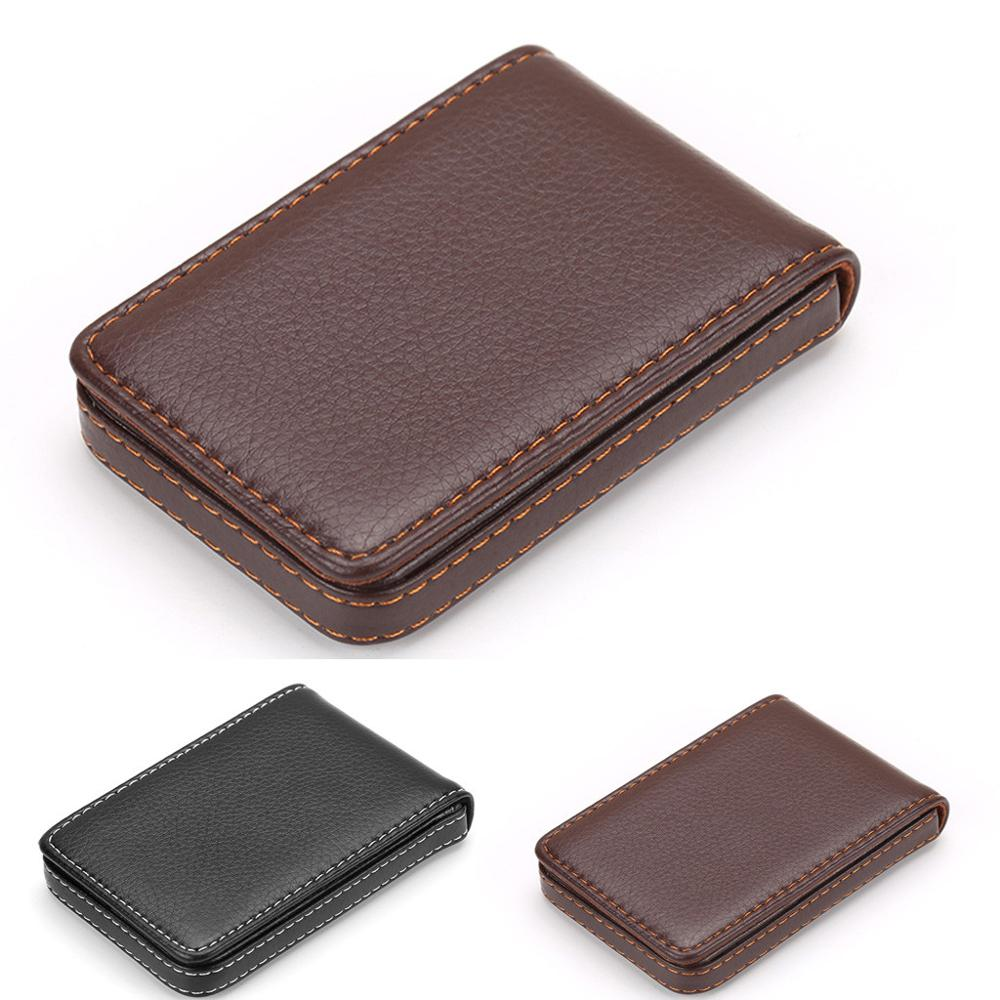 Fashion Men's Business Card Holder Vertical Leather Large Capacity Storage credit card holder Brand New And High Quality A29