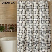 GIANTEX Plaid Bathroom Curtain Waterproof Shower Curtains for Bathroom Cortina Ducha Rideau De Douche Douchegordijn U1269 cheap Polyester Europe Eco-Friendly Stocked