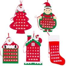 Рождественский календарь Санта Клаус Снеговик Новогоднее Рождественское украшение для дома и офиса милые подарки для рождественской вечеринки
