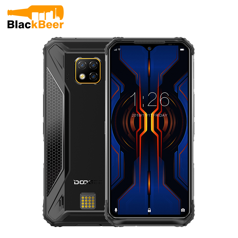DOOGEE S95 Pro 6.3 Inch Android 9.0 Mobile Phone Rugged IP68 Drop Proof Smartphone MTK P90 8GB 128GB Cellphone 48MP AL Cameras