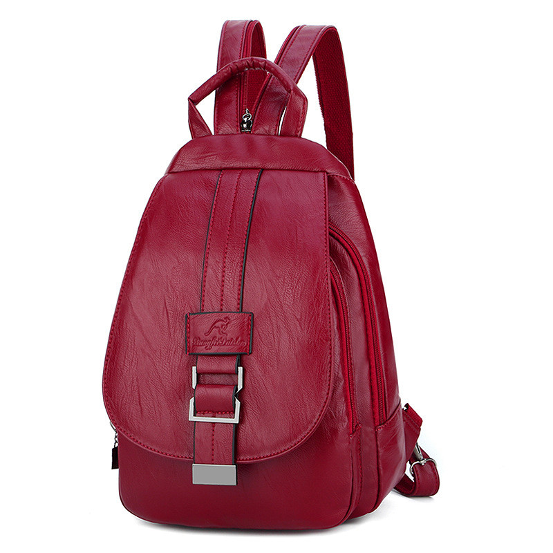 2019 Women Leather Backpacks Vintage Girls Shoulder Bag Sac A Dos Travel Ladies Bagpack Mochilas School Bags For Female Preppy