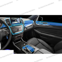Lsrtw2017 TPU GPS Car Interior Film gear panel accessories Protective Sticker for Mercedes Benz GLE w166 c292 2011-2019 M class