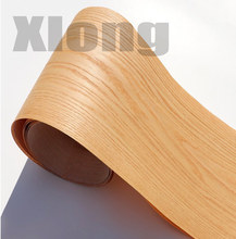 2Piece/Lot   L:2.5meters Width:18cm Natural Red Oak Wood Veneer Pattern Bark