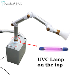 Стоматологический внешний прибор для всасывания аэрозоля, портативный прибор для всасывания, УФ-светильник + 3 фильтра