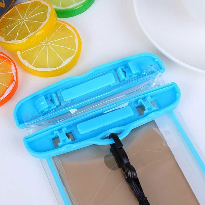 19 × 10.5 センチメートルユニバーサル防水ポーチ水中透明携帯電話のドライバッグ携帯電話ケースストラップ