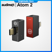 Audirect Atom2 MQA ES9281AC USB DAC Cable Headphone Amplifier AMP Lightning/TYPE C to 3.5m Audio for ios Android Phone ATOM 2