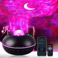 جهاز عرض ذكي غالاكسي مع بلوتوث الموسيقى المتكلم الوقت الإعداد LED ستار ليلة ضوء المسرح المنزلي حفلة أجواء الإضاءة
