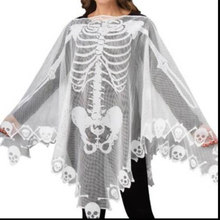 Lace Polyester Fiber Poncho Cape Cloak Halloween Supplies Skeleton Beautiful Clothing Party Decoration Home(China)