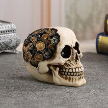 Resin Robot Skull Halloween Gift Personality Home Decoration Furniture Ornaments  Craft Design Figurines Fashion 15x11cm худи print bar skull robot
