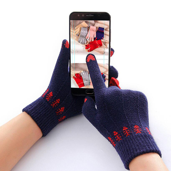 new women lace sunscreen gloves autumn spring lady stretch touch screen anti uv slip resistant driving glove breathable guantes Winter Touch Screen Gloves Women Men Warm Stretch Knit Mittens Imitation Wool Full Finger Guantes Female Crochet Thicken