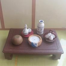 Япония подлинные партии спа серии квадратный стол с едой конфеты, продукты игрушечная мебель матч Лес животных Семья коллекционная игрушка