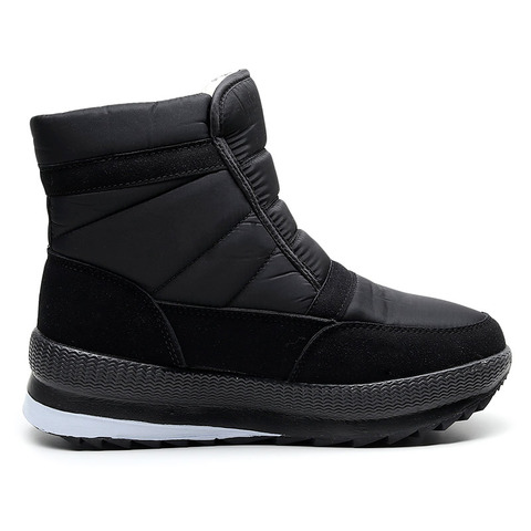 SNOW SHOES  Men Boots Winter with Fur 2019 Warm Snow Boots Men Winter Work Casual Shoes Sneakers High Top Rubber Ankle Boots Islamabad