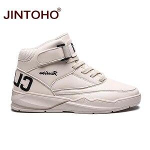 Image 3 - Jintho homens botas de inverno moda de couro branco tênis casuais homens botas de tornozelo botas de couro masculino botas de inverno