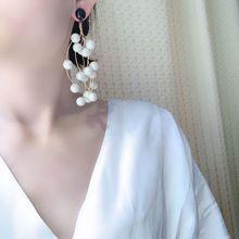 pearl trend earrings luxury big earrings  korean fashion  indian jewelry  bohemian  pearl charm earrings цена