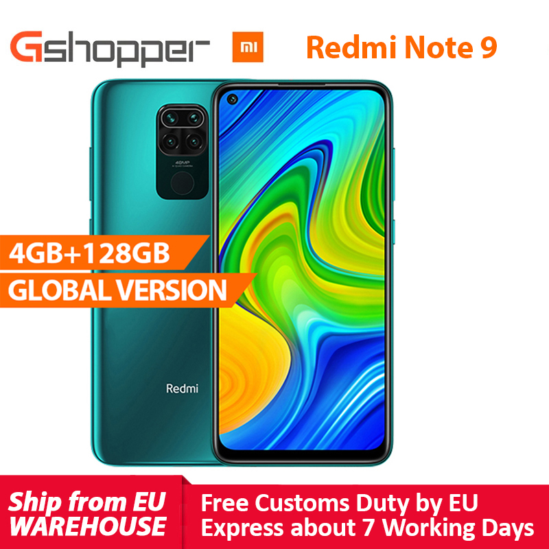 "Global Version Xiaomi Redmi Note 9 4GB 128GB Smartphone MTK Helio G85 Octa Core 48MP Quad Rear Camera 6.53"" DotDisplay 5020mAh|Cellphones| - AliExpress"