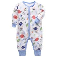 Newborn Boy girl Clothes Baby Rompers Long Sleeves Cotton Comfortable Baby Pajamas Kawaii Animal print girl Jumpsuit boy Romper(China)