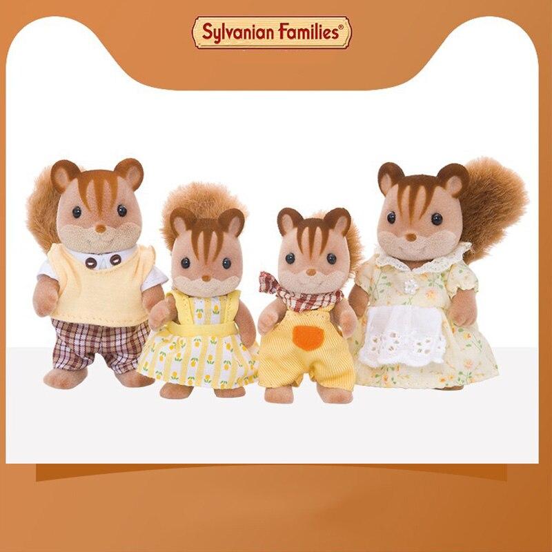 Juguetes de familia Sylvanian, familia Sylvanian, nogal ardilla, familia, niños, muñecas para jugar en casa 4172 - 2