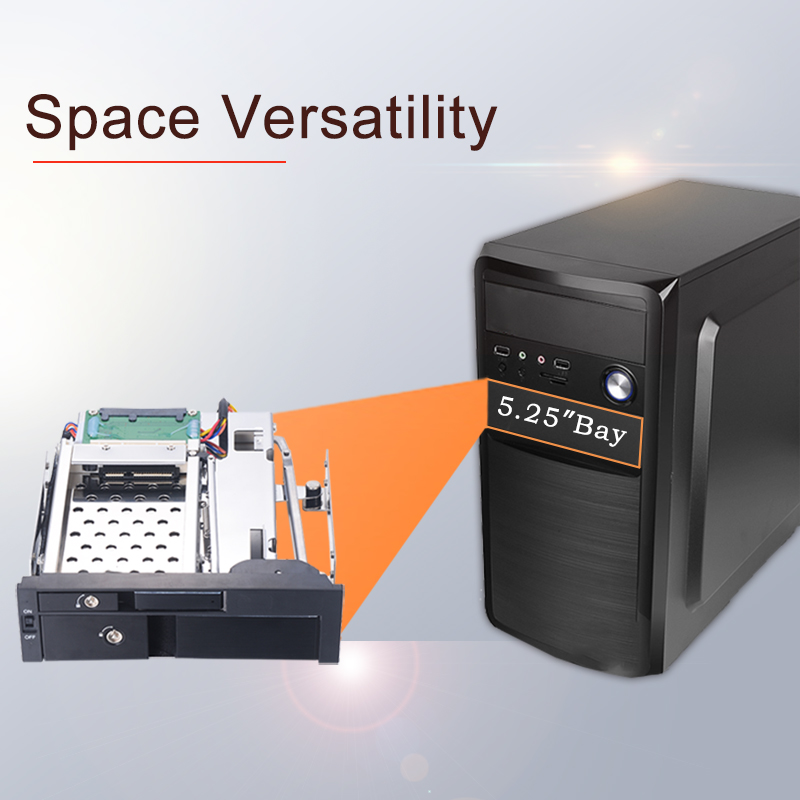 Image 2 - Uneatop Optical Bay Aluminum 2.5+3.5in multi function SATA Internal Hot swap HDD Mobile Rack for dual tray less enclosure-in HDD Enclosure from Computer & Office