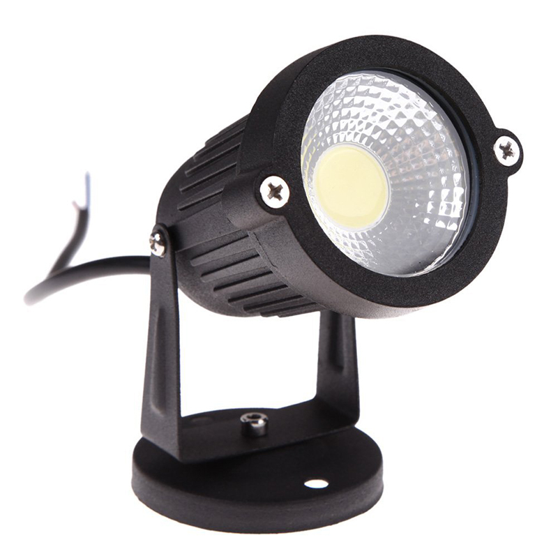 COB 3W 12V LED Lawn Light Waterproof LED Spotlight Garden Garden Light Outdoor Spotlight (no Pillars, Warm Colors)
