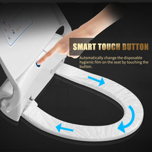 Смарт сиденье для туалета набор крышек Автоматическая Замена гигиенической пленки бытовые антибактериальные тихие закрытые накладки на сидения унитаза плиты