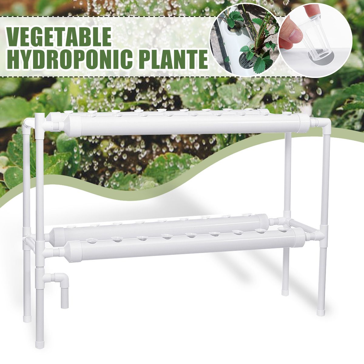 220V/110V Plant Hydroponic Systems Grow Kit 36 Holes Nursery Pots Anti Pest Soilless Cultivation Indoor Garden Culture Planter