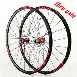 Vtt vélo 26 27.5 29 pouces mat noir cercle vélo roue 24 trous baril arbre traction droite Six-griffe disque frein roues