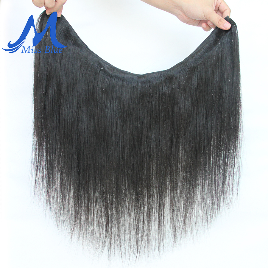 Image 2 - Missblue Peruvian Hair Weave Bundles Straight 100% Human Hair 34 36 38 40 Inch 3/4 Bundles Natural Color Remy Hair Extensions-in Hair Weaves from Hair Extensions & Wigs