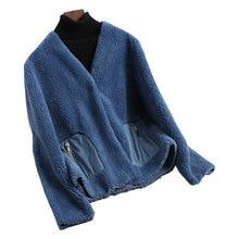 Real Fur Coat Women Clothes 2020 Sheep Shearing Korean Wool