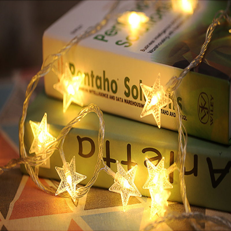 de neve luz corda estrelada noite mercado tenda decoração luz