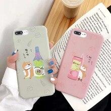 IMIDO Cartoon Dog TPU Soft Silicone Cases For iphone 6/7/8/X Case Cute Simple Anti-fall Lanyard Fashion Phone Back Cover