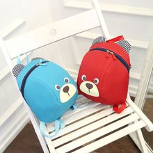 Cute Bear Small Toddler Backpack with Leash Children Kids Backpack Bag for Boy Girl embroidered detail backpack with bear charm 4pcs