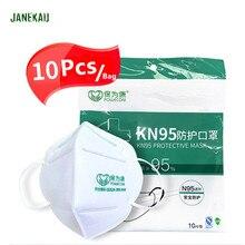 Schnelle Lieferung 10 teile/beutel Einweg Maske KN95 Anti PM 2,5 Anti-Influenza Atem Sicherheit Medizinische Gesicht Maske 95% Filtration