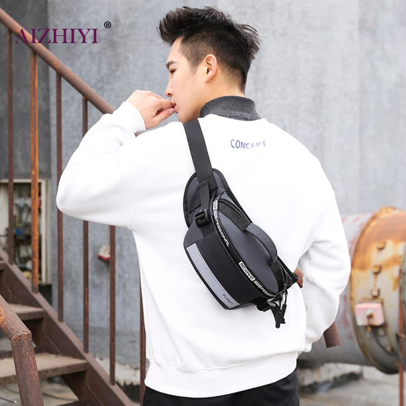 Men Chest Bags 2020 New Fashion Waterproof Nylon Fanny Waist Bags Teen Boys Outdoor Casual Travel Shoulder Crossbody Packs